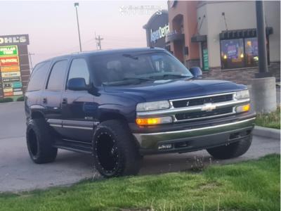"2003 Chevrolet Tahoe - 20x12 -44mm - Dropstar 645b - Stock Suspension - 33"" x 12.5"""
