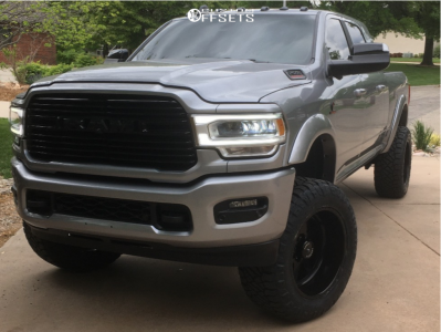 """2019 Ram 2500 - 22x12 -40mm - American Force Independence Ss - Suspension Lift 5"""" - 37"""" x 13.5"""""""