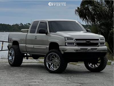 """2005 Chevrolet Silverado 1500 - 24x14 -76mm - Xtreme Force Xf-8 - Suspension Lift 6"""" - 375/40R24"""