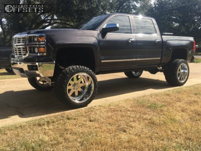 """2015 Chevrolet Silverado 1500 - 22x14 -73mm - American Force Independence Ss - Suspension Lift 10"""" - 355/40R22"""