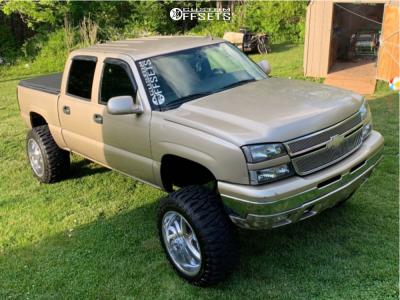 "2006 Chevrolet Silverado 1500 Classic - 22x14 -70mm - American Force Blade Ss - Suspension Lift 8"" - 375/45R22"