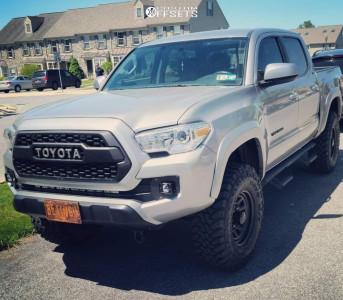 "2017 Toyota Tacoma - 16x8 13mm - Black Rock D Widow - Suspension Lift 3"" - 285/75R16"