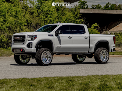 "2019 GMC Sierra 1500 - 24x14 -77mm - KG1 Forged Vortex - Suspension Lift 9"" - 35"" x 13.5"""