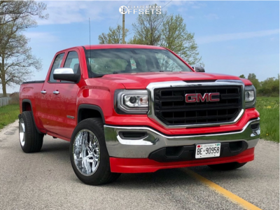 "2017 GMC Sierra 1500 - 20x12 -57mm - Vision Spyder - Level 2"" Drop Rear - 31"" x 10.5"""
