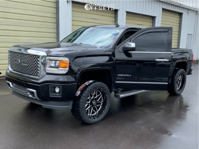 "2014 GMC Sierra 1500 - 22x10 -25mm - Hostile H108 - Suspension Lift 3.5"" - 33"" x 12.5"""