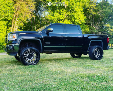 "2014 GMC Sierra 1500 - 24x14 0mm - Moto Metal Mo992 - Suspension Lift 7"" - 33"" x 13.5"""