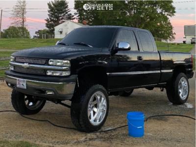 "1999 Chevrolet Silverado 1500 - 22x12 0mm - Fuel Forged Ff02 - Suspension Lift 6"" - 35"" x 12.5"""
