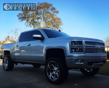 "2015 Chevrolet Silverado 1500 - 22x10 -24mm - Fuel Maverick - Suspension Lift 6"" - 33"" x 12.5"""