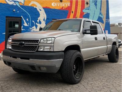 """2005 Chevrolet Silverado 2500 HD - 20x12 -44mm - Gear Off-Road 763B Raid - Lowered 2F / 4R - 32"""" x 12.5"""""""