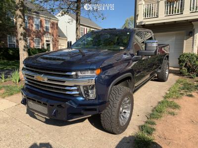"""2021 Chevrolet Silverado 2500 HD - 20x10 -18mm - Fuel Blitz - Stock Suspension - 35"""" x 12.5"""""""