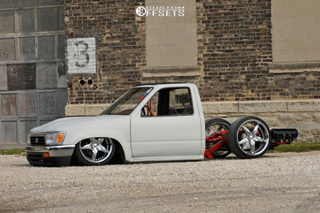 1994 Toyota Pickup - 18x8 66mm - HRBB Hot Rods By Byod Avenger - Air Suspension - 225/35R18