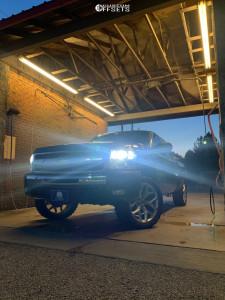 "2011 Chevrolet Silverado 1500 - 22x9 30mm - OE CREATIONS Snowflakes - Suspension Lift 3"" - 33"" x 12.5"""