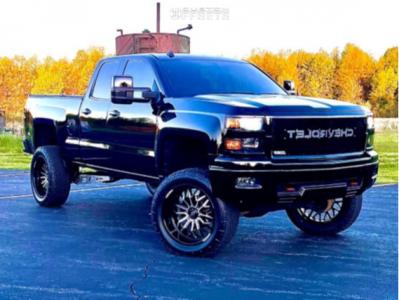 "2014 Chevrolet Silverado 1500 - 22x10 -19mm - Vision Riot - Suspension Lift 9"" - 35"" x 12.5"""