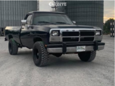"""1993 Dodge W150 - 15x8.5 0mm - American Racing Bullet Hole - Stock Suspension - 33"""" x 8.5"""""""