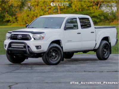 "2013 Toyota Tacoma - 16x8 0mm - KMC Enduro - Stock Suspension - 30"" x 8.5"""