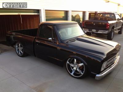 1968 Chevrolet C10 Pickup - 22x9 0mm - Foose Speedster - Air Suspension - 285/35R22