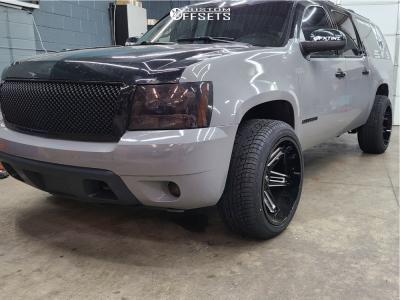 2013 Chevrolet Suburban 1500 - 22x12 -51mm - Vision Razor - Stock Suspension - 285/45R22