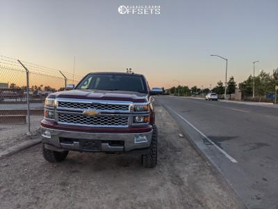 """2014 Chevrolet Silverado 1500 - 17x9 -12mm - Fuel Vector - Suspension Lift 6"""" - 285/75R17"""