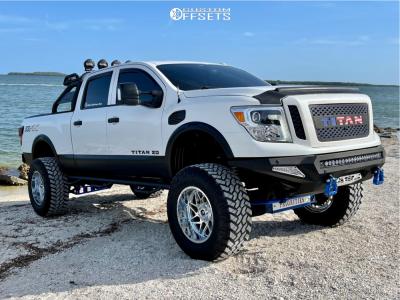"2018 Nissan Titan - 20x12 -44mm - Gear Off-Road Ratio - Suspension Lift 7.5"" - 38"" x 13.5"""