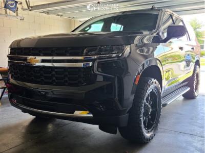 """2021 Chevrolet Tahoe - 20x9 0mm - Fuel D575 - Suspension Lift 2.5"""" - 32"""" x 9.5"""""""