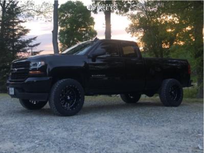 "2019 Chevrolet Silverado 1500 LD - 20x12 -44mm - TIS 544bm - Leveling Kit - 33"" x 12.5"""