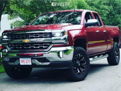"""2018 Chevrolet Silverado 1500 - 20x11 -1mm - Fuel Assault D546 - Suspension Lift 2.5"""" - 35"""" x 11.5"""""""