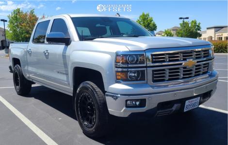 """2014 Chevrolet Silverado 1500 - 18x9.5 -12mm - Method Nv - Leveling Kit - 31"""" x 8.5"""""""