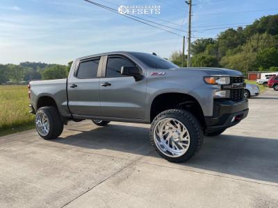 "2021 Chevrolet Silverado 1500 - 24x14 -76mm - JTX Forged Zone - Suspension Lift 6"" - 35"" x 12.5"""