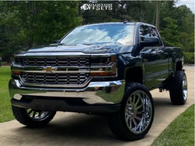 "2018 Chevrolet Silverado 1500 - 24x12 -44mm - Hardcore Offroad Hc15 - Suspension Lift 6.5"" - 35"" x 12.5"""