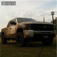 "2009 Chevrolet Silverado 1500 - 20x10 -10mm - XD Monster - Suspension Lift 4"" - 33"" x 12.5"""