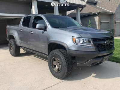 2018 Chevrolet Colorado - 17x9.5 12mm - Black Rhino Crawler - Leveling Kit - 275/70R17