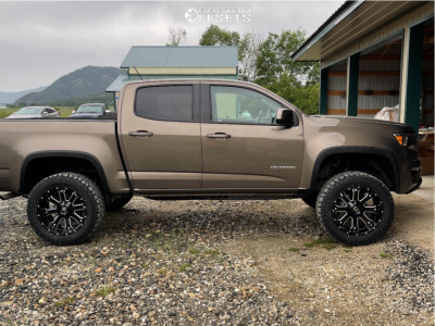 "2016 Chevrolet Colorado - 20x10 -24mm - American Offroad A108 - Suspension Lift 4"" - 32"" x 10.5"""