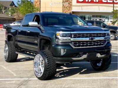 """2017 Chevrolet Silverado 1500 - 24x14 0mm - Xtreme Forged XF004 - Suspension Lift 9"""" - 35"""" x 12.5"""""""