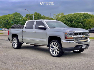 """2016 Chevrolet 1500 - 24x10 0mm - Reps Snowflakes - Leveling Kit - 33"""" x 12.5"""""""
