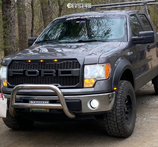 """2011 Ford F-150 - 17x9 1mm - Fuel Sledge D595 - Leveling Kit - 35"""" x 12.5"""""""