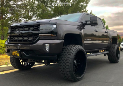 "2017 Chevrolet Silverado 1500 - 24x14 -76mm - Hardrock H700 - Suspension Lift 8"" - 35"" x 13.5"""