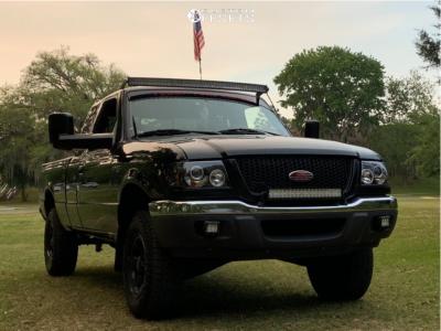 "2002 Ford Ranger - 15x10.5 -44mm - Ultra Menace - Leveling Kit - 29"" x 10.5"""