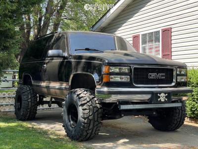 "1995 GMC Yukon - 15x12 -76mm - Bart Super Trucker - Suspension Lift 6"" - 35"" x 12.5"""