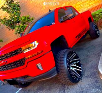 "2016 Chevrolet 1500 - 26x14 -76mm - TIS 554bm - Suspension Lift 9.5"" - 35"" x 13.5"""