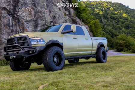 "2012 Dodge Ram 3500 - 20x10 -24mm - Black Rhino Arsenal - Leveling Kit - 38"" x 13.5"""