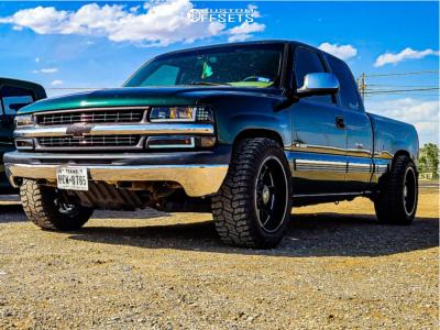 "2001 Chevrolet Silverado 1500 - 20x10 -22mm - Steel Off-Road Revolt - Level 2"" Drop Rear - 31"" x 10.5"""