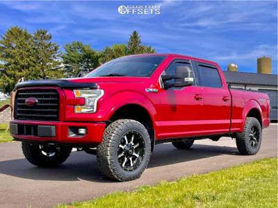 "2016 Ford F-150 - 20x9 -0mm - Moto Metal Mo970 - Suspension Lift 3.5"" - 275/65R20"