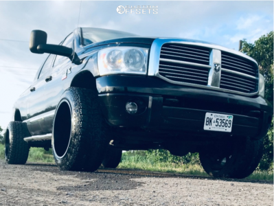 """2009 Dodge Ram 3500 - 22x14 -76mm - Cali Offroad Dirty - Stock Suspension - 35"""" x 13.5"""""""