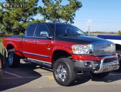 "2008 Dodge Ram 1500 - 18x9 -12mm - Helo He791 - Suspension Lift 6"" - 325/65R18"