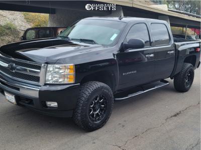 """2011 Chevrolet Silverado 1500 - 17x10 -12mm - Black Rhino Sierra - Suspension Lift 3.5"""" - 295/65R17"""