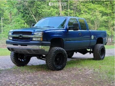 "2003 Chevrolet Silverado 2500 HD Classic - 20x12 -51mm - Vision Rocker - Suspension Lift 6"" - 35"" x 13.5"""