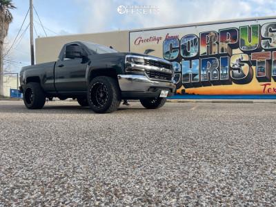 """2017 Chevrolet Silverado 1500 - 20x12 -44mm - TIS 544mb - Suspension Lift 2.5"""" - 33"""" x 12.5"""""""