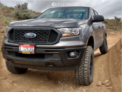 2020 Ford Ranger - 17x8.5 18mm - Motegi Mr150 - Leveling Kit - 265/70R17