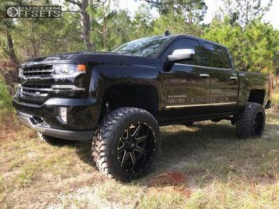 "2017 Chevrolet Silverado 1500 - 22x12 -44mm - Fuel Maverick - Suspension Lift 6"" - 35"" x 12.5"""