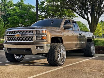 "2014 Chevrolet Silverado 1500 - 24x16 0mm - JTX Forged Silencer - Leveling Kit - 33"" x 14.5"""